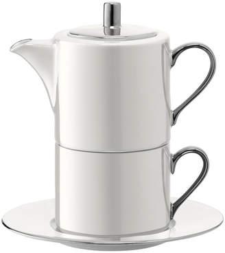 LSA International Polka Tea for One & Saucer - Pearl