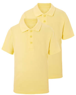 George Yellow School Polo Shirt 2 Pack
