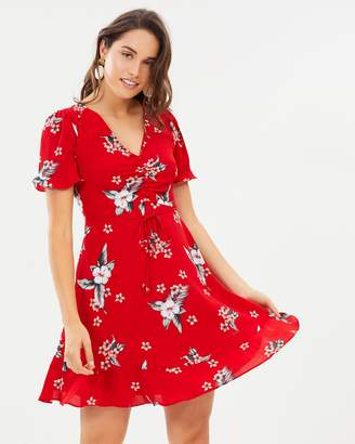Oasis Spaced Havana Floral Tea Dress