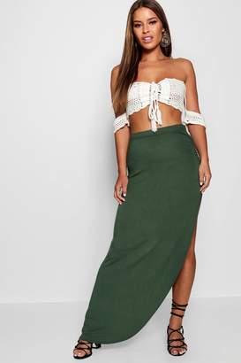 boohoo Petite Viscose Maxi Skirt