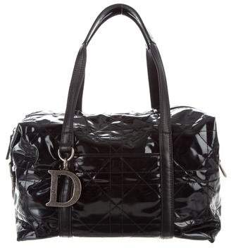 Christian Dior Patent Leather Cannage Tote