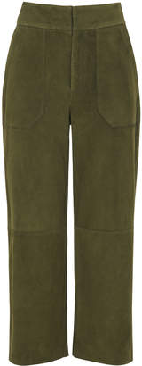 Whistles Magda Suede Wide Trouser