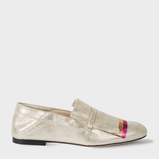 Women's Metallic Suede 'Freya' Loafers With Coloured Fringing $325 thestylecure.com