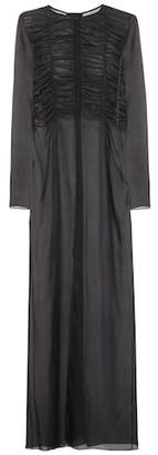 The Row Sabrina silk shirt dress
