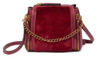Belle & Bloom Jess Leather & Faux Fur Crossbody Bag