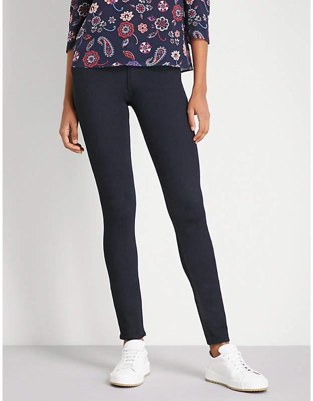 Claudie Pierlot Velvet waistband skinny high-rise jeans