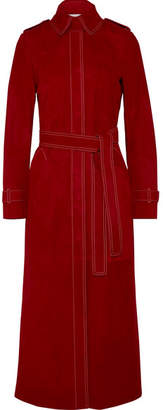 Gabriela Hearst Belted Suede Coat - Red