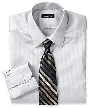 Claiborne Slim-Fit Satin-Striped Dress Shirt