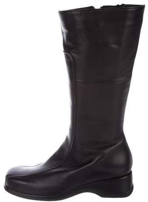 La Canadienne Leather Square-Toe Boots