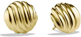 David Yurman 'Sculpted Cable' Earrings in Gold