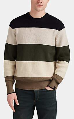 Rag & Bone Men's Striped Cotton-Blend Crewneck Sweater - Navy