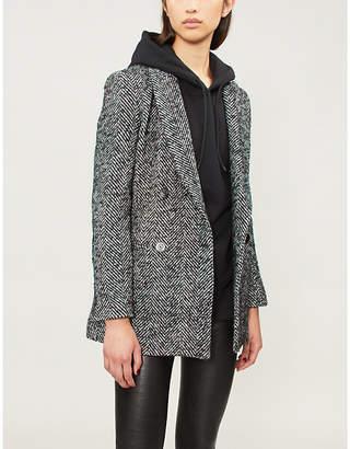 Pinko Attivazione double-breasted wool-blend blazer