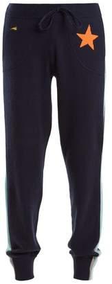 Bella Freud Billie intarsia-knit cashmere-blend track pants