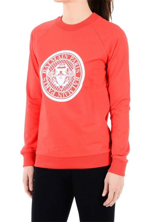 Medallion Print Cotton Sweatshirt