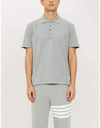 Thom Browne Logo-taping cotton-piqué polo shirt