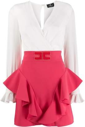 Elisabetta Franchi high waisted ruffled skirt