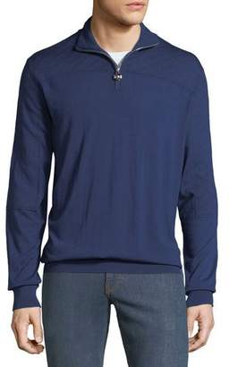Stefano Ricci Men's Mock-Neck Quarter-Zip Sweater