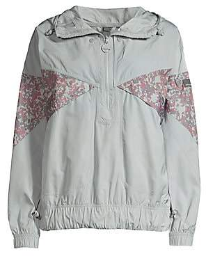 adidas by Stella McCartney Women's Recycled Polyester Pullover Zip Windbreaker
