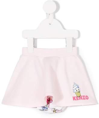 Kenzo printed ice cream skirt