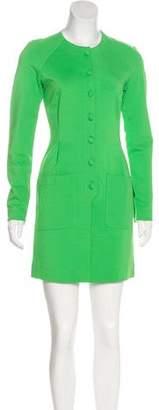 Zac Posen Z Spoke by Button Up Mini Dress