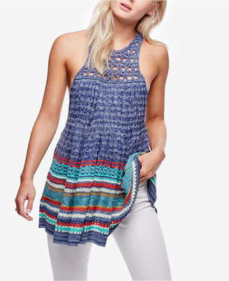 Free People Rare Hearts Striped Knit Tunic $148 thestylecure.com