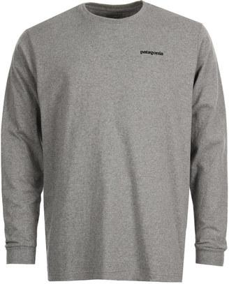 Pagonia P-6 Logo Longsleeve T-Shirt 38933-GLH Grey