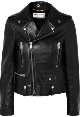 Saint Laurent Perfecto Leather Biker Jacket - Black