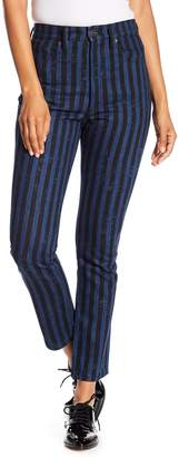 Marc Jacobs Stovepipe Stripe Denim Pants