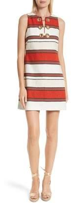 Derek Lam 10 Crosby Grommet Detail Stripe Shift Dress