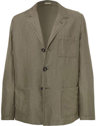 Massimo Alba Unstructured Linen and Cotton-Blend Suit Jacket