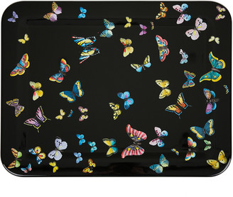 Fornasetti Farfalle Black Tray - 48x60cm