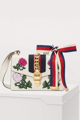 Gucci Sylvie embroidered leather shoulder bag
