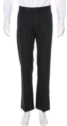 Armani Collezioni Striped Wool Dress Pants
