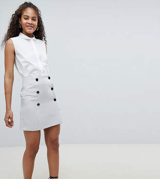 Asos Tall DESIGN TALL double breasted mini skirt