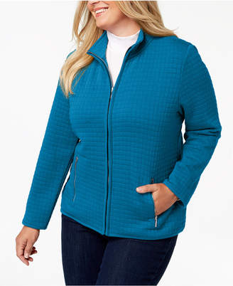 Karen Scott Plus Size Quilted Jacket