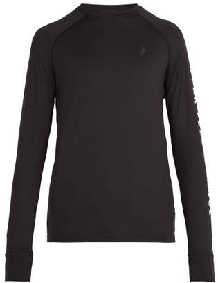 Peak Performance Print Sleeved Stretch Jersey Top - Mens - Black