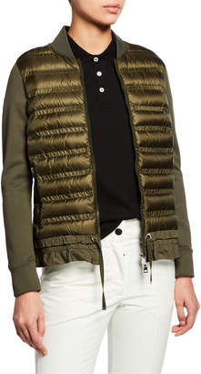 Moncler Maglia Quilted Down Cardigan
