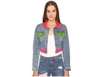 Jeremy Scott Multi Clear Denim Jacket Women's Coat