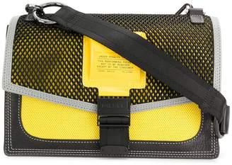 Diesel mesh-panelled cross-body bag