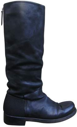 Vic Matié Anthracite Leather Boots