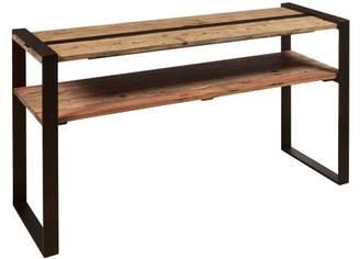 HomeFare Reclaimed Wood & Metal Sofa Table