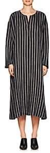Pas De Calais Women's Striped Linen-Blend Tunic Dress-Navy