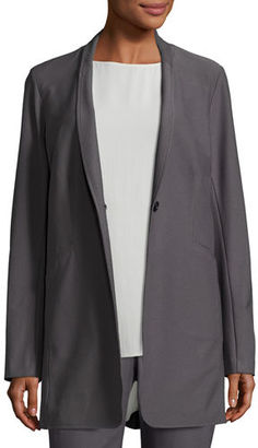 Eileen Fisher Washable Stretch Crepe One-Button Blazer, Petite $228 thestylecure.com