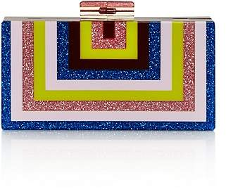 Aqua Rainbow Stripe Geometric Clutch - 100% Exclusive