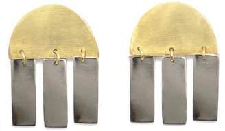 Soko Brass Abstract Earrings