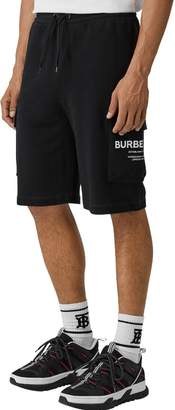 Burberry Printed Logo Cotton Jersey Shorts