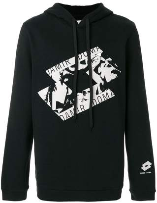 Damir Doma x Lotto printed hoodie