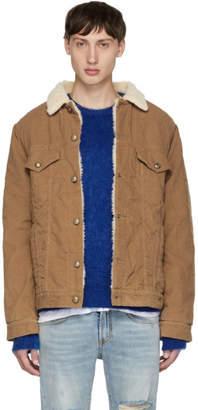 R 13 Tan Sky Trucker Jacket