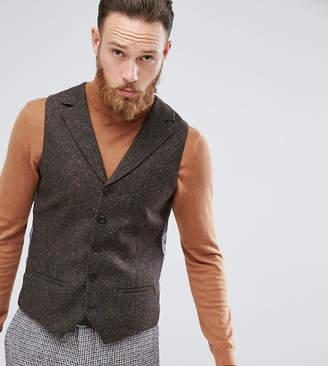 Heart & Dagger Skinny Tweed Waistcoat