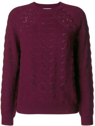 See by Chloe lace crochet jumper